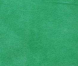 Jade Green Velour Suede Leather Half Skin